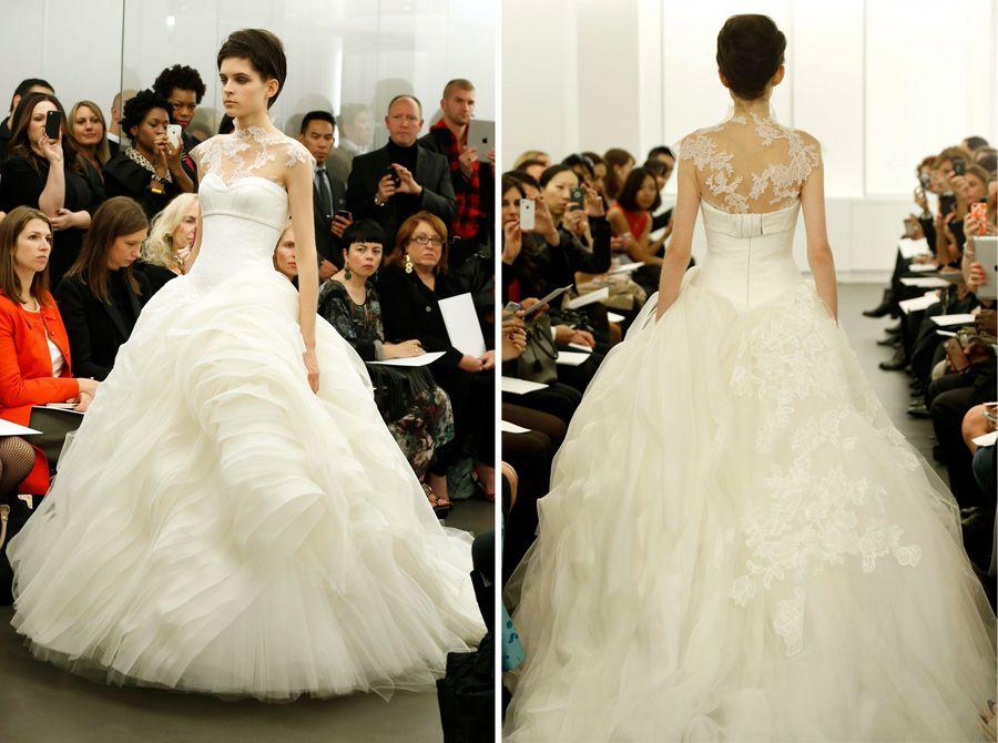 Shruthi In A Dreamy One Shoulder Pronovias Dress: 2000s Wedding Dress Inspired By Crinoline: Vera Wang Fall