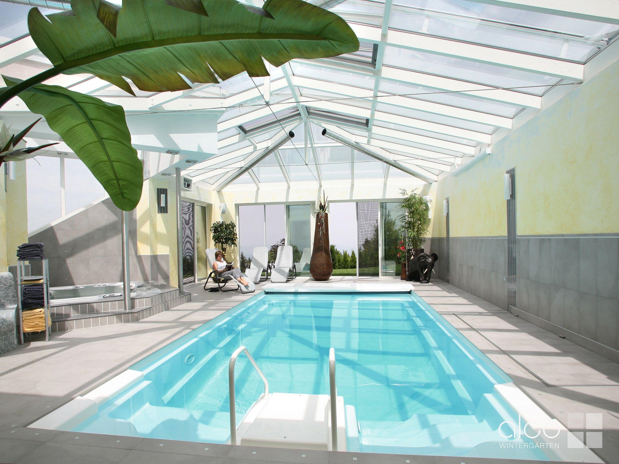 Schwimmbadüberdachungen aus Holz, Glas oder Alu von | Schwimmhallen ...