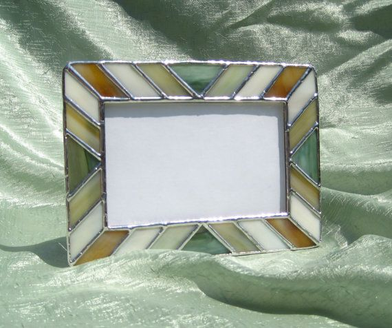 Picture Frame Earth Tones 4 x 6 Stained Glass Frame | Marcos ...