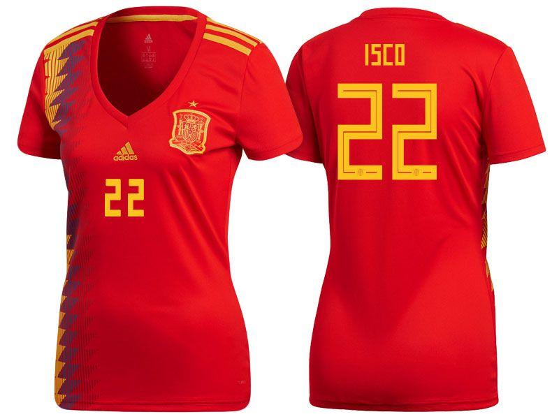 143d24383 2018 Spain World Cup Football Shirt luis alberto Women Home Soccer Jersey