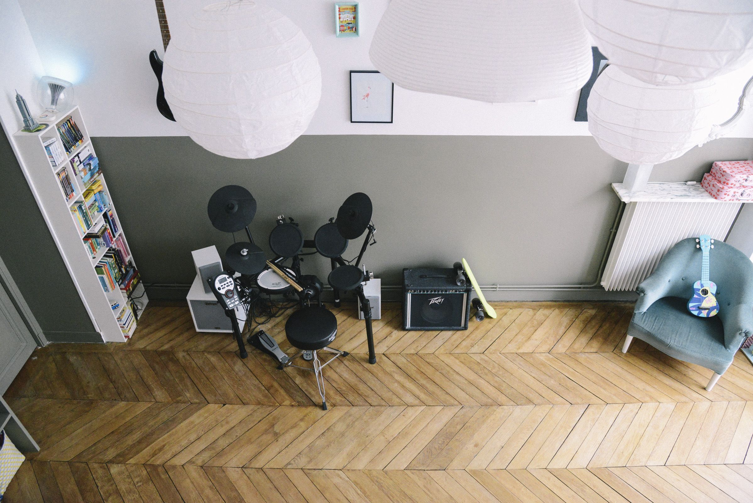 Décoration chambre ado - Rock, musique, kaki  Déco chambre ado