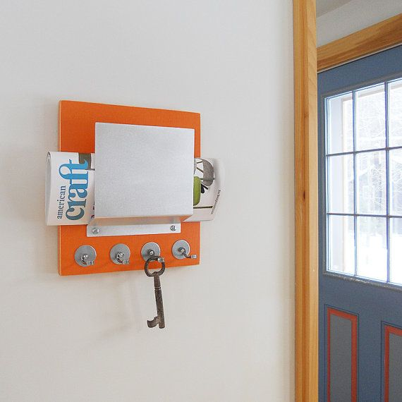 Carrot Retro Wall Mount Mail Letter Holder Orange By Pigandfish