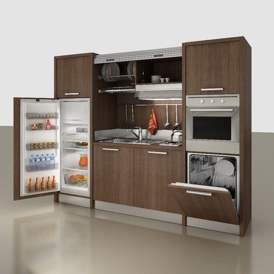 Zeus K136 By Mobilspazio Contract Small Kitchen Layouts Mini Kitchen Micro Kitchen
