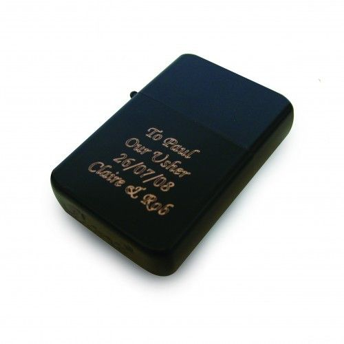 e369e201ede4 Personalised Black Zippo Style Lighter