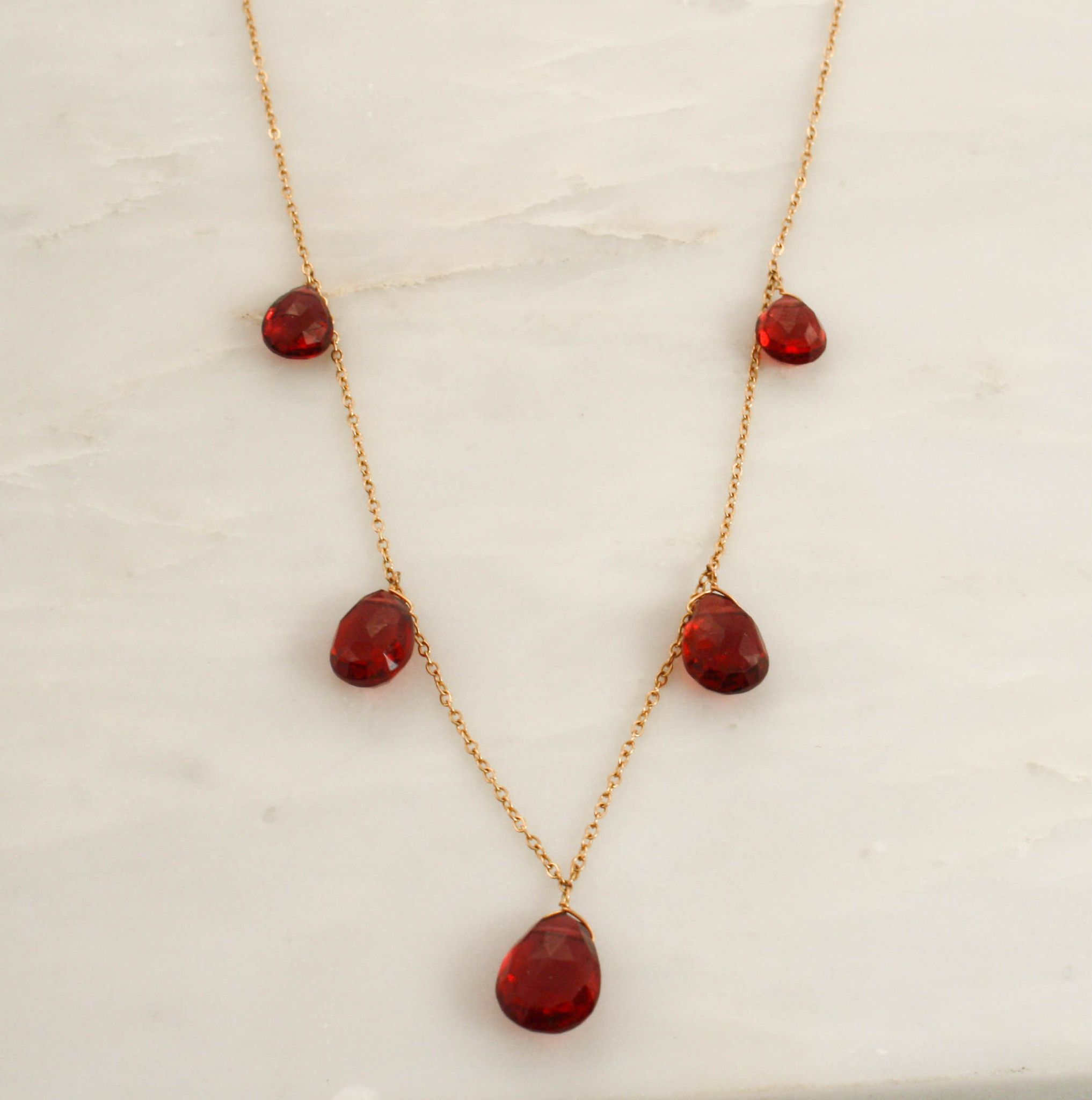 shop necklace red garnet heart bracelet