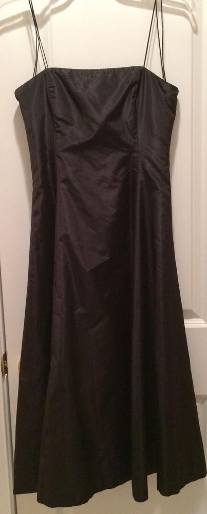 RALPH LAUREN  Black Label Black Silk Spaghetti Strap Dress sz 4 #RalphLaurenBlackLabel #SpaghettiStrap #Cocktail
