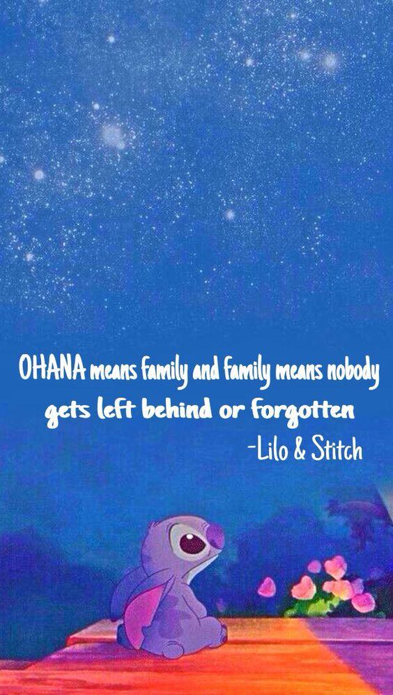 Ohana I Miss You Lilo And Stitch Quotes Lilo And Stitch Stitch Quote