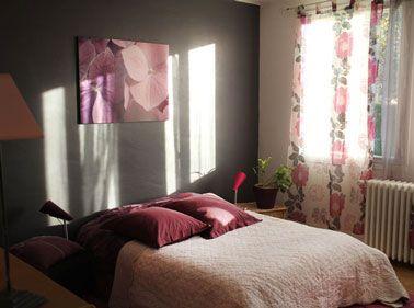 12 d co salon et chambre avec une peinture couleur taupe - Peinture prune chambre ...