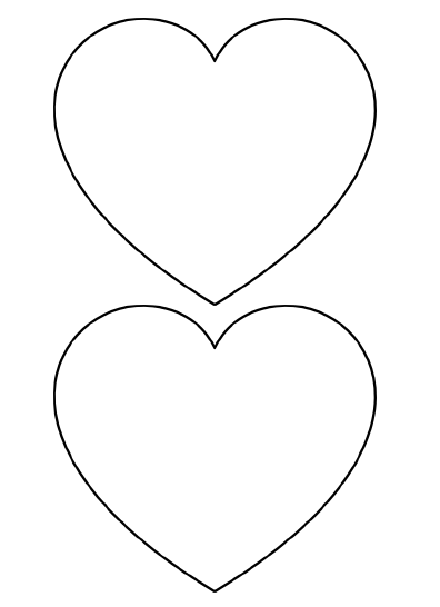 photograph regarding Printable Hearts Templates titled Free of charge Printable Center Templates Major, Medium Tiny