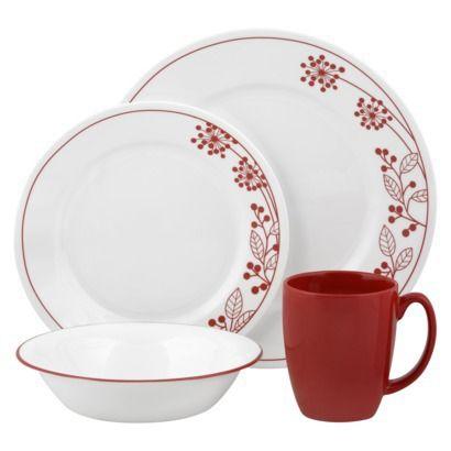 Corelle Vive 16-pc. Dinnerware Set (Berries u0026 Leaves) @ Target.  sc 1 st  Pinterest & Corelle Vive 16-pc. Dinnerware Set (Berries u0026 Leaves) @ Target ...