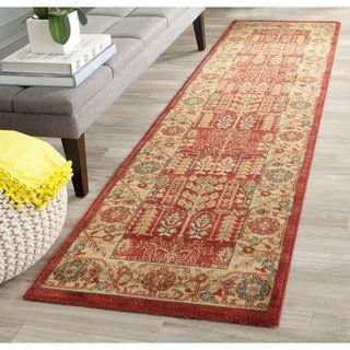 For Safavieh Mahal Traditional Grandeur Red Natural Rug 2 X 6