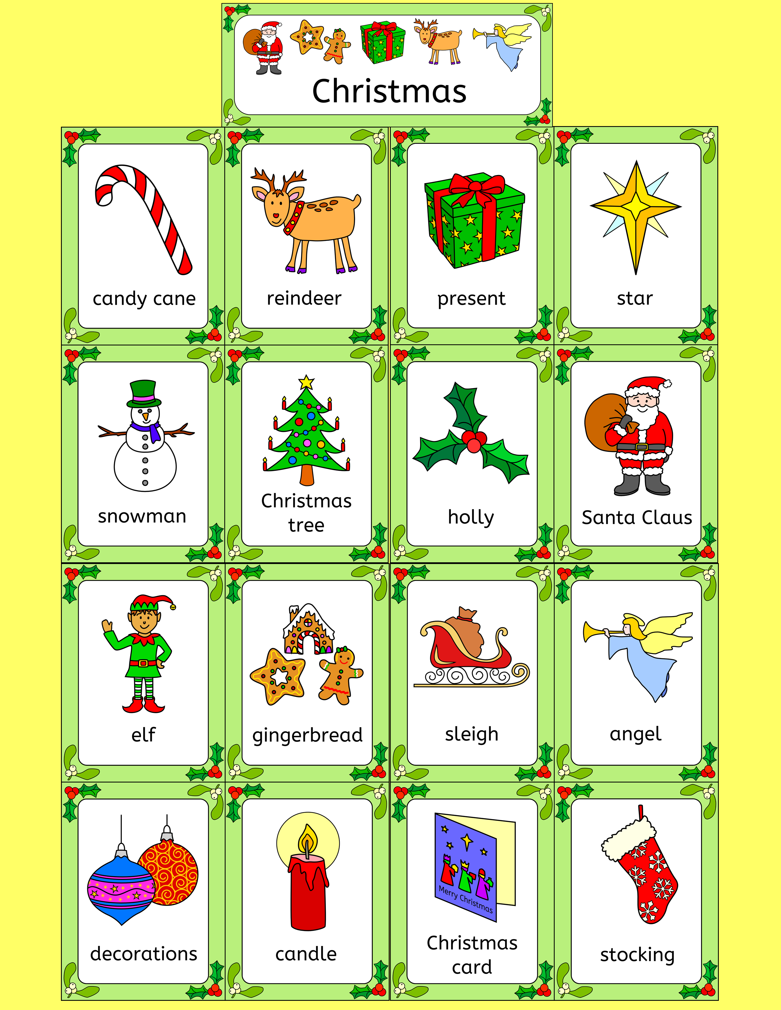 Fabulous Set Of Xmas Resources For The Efl Classroom Puzzles Games Activities Cards Gift English Vocabulary Games Vocabulary Games Vocabulary Activities
