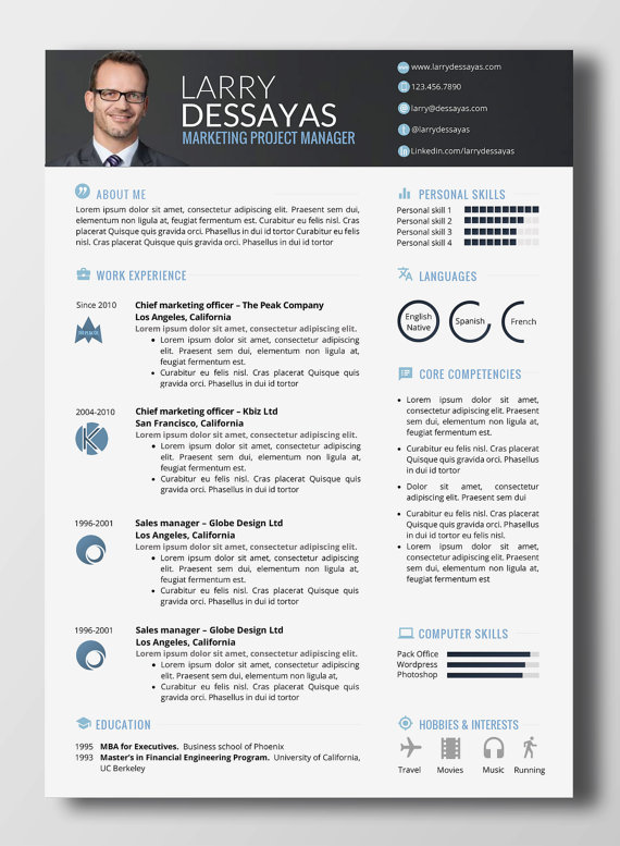 Impactful Resume Word Products Modele Cv Gratuit Word