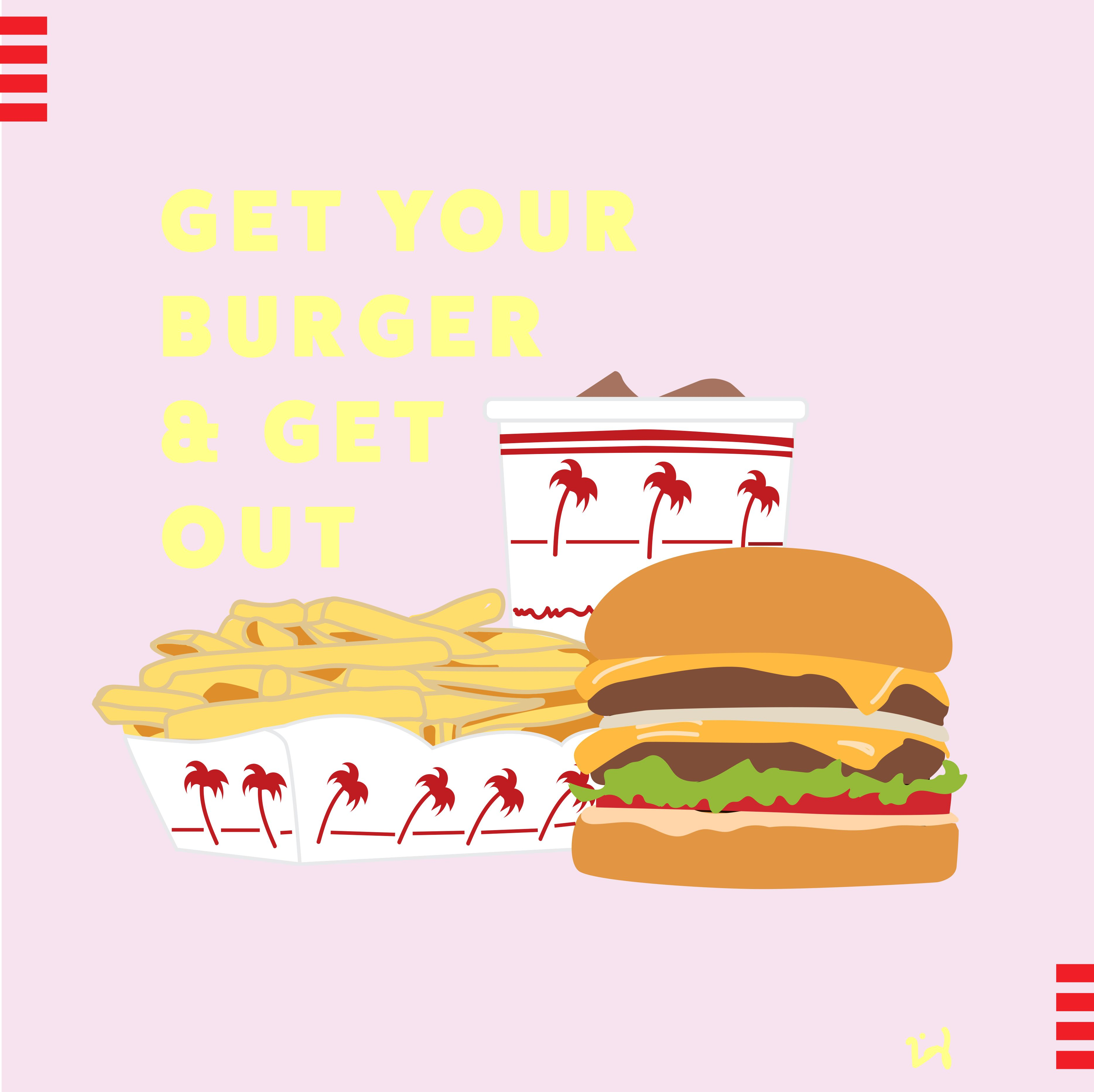 NEW IN-N-OUT BURGER ORIGINAL SIGN STICKER SO CALIFORNIA 2019