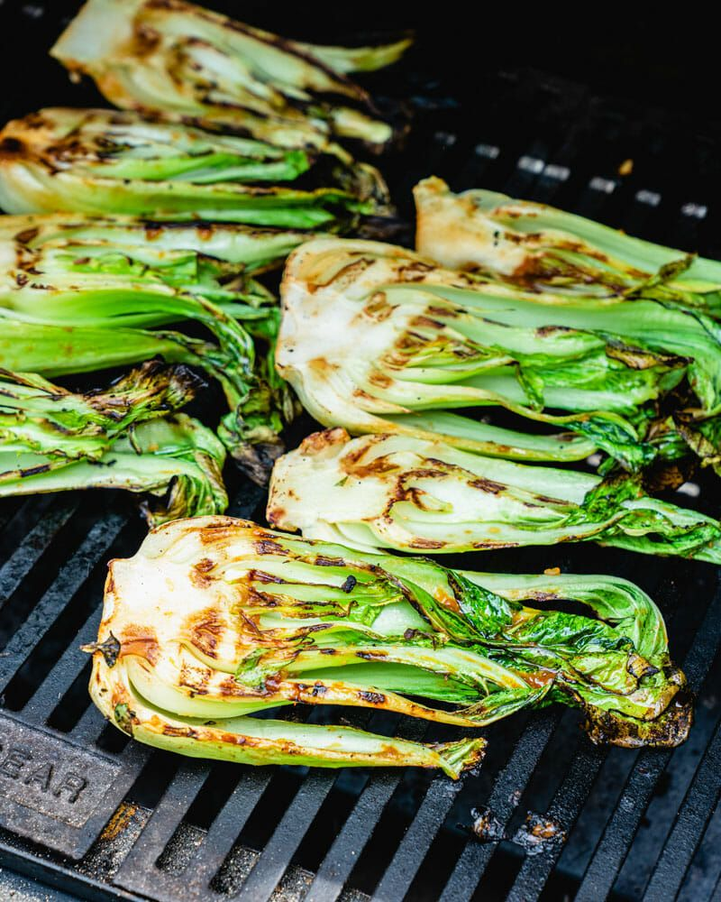 Grilled Bok Choy A Couple Cooks Recipe Grilled Bok Choy Healthy Summer Recipes Grilled Bok Choy Recipes