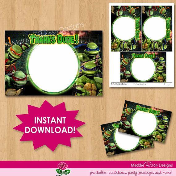 Teenage Mutant Ninja Turtles Thank You Note Card