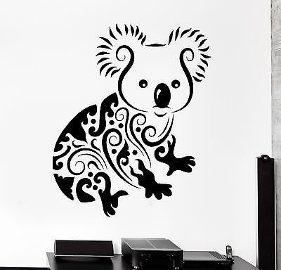 Wall Decal Koala Animal Jungle Ornament Tribal Mural Vinyl Decal Unique Gift Z3303 Koala Tattoo Australia Tattoo Art