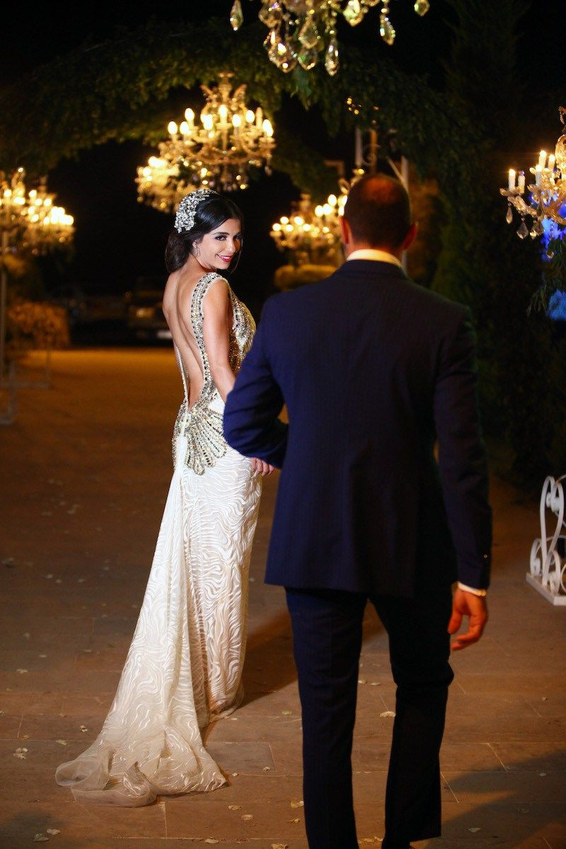 White Backless Wedding Gown | Lebanese Wedding | South Asian Wedding ...