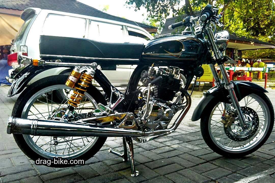 Modifikasi Motor Cb 100 Warna Hitam Honda Cb Cafe Racer Honda