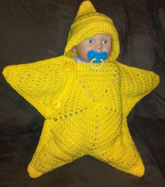 Star Cocoon - Newborn Sleep sack - Baby Slumber Sack - Photo prop ...