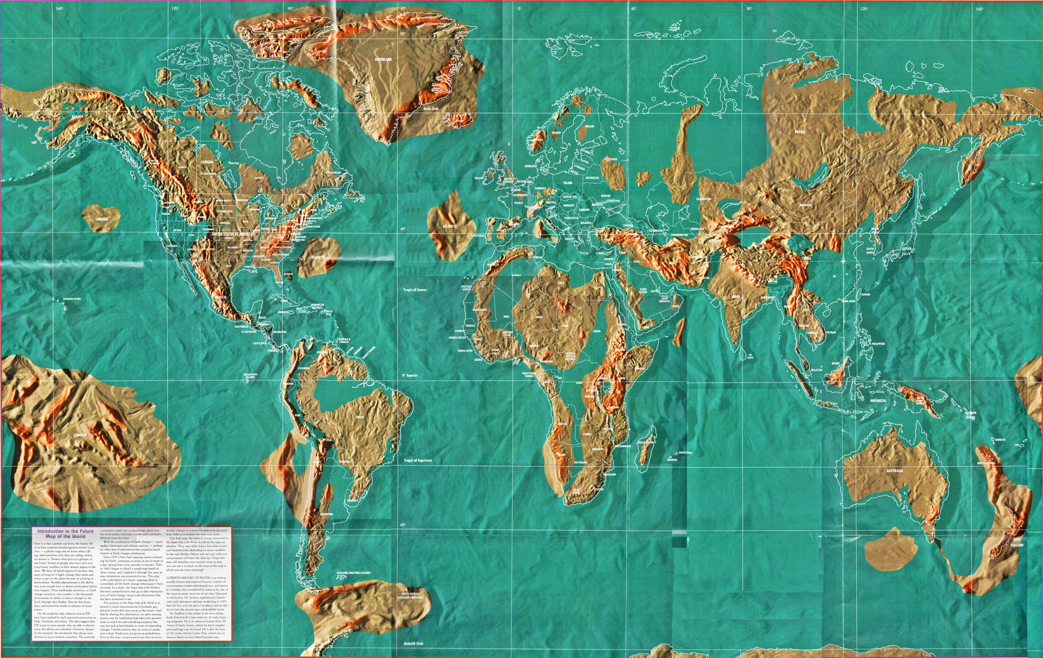Alternate Earth Map.Future Map Of The World Eventual Earth Changes Needs Map