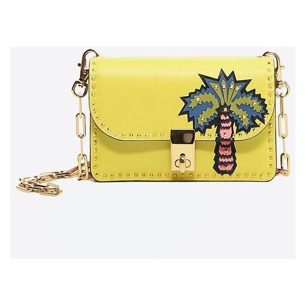 354d97d0896 Valentino Garavani Cross Body Bag ($2,455) ❤ liked on Polyvore featuring  bags, handbags, shoulder bags, acid yellow, white leather shoulder bag,  leather ...