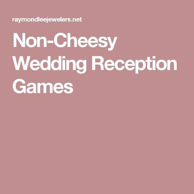 Non-Cheesy Wedding Reception Games