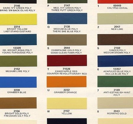 Bring Em Back Olive Get It Paint Charts Ford And