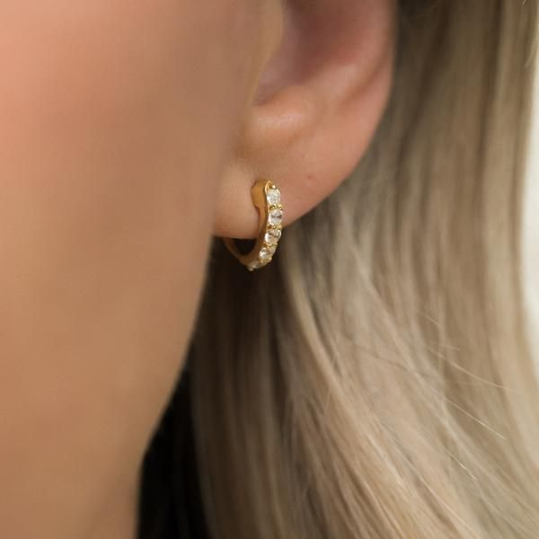 The Demi Hoops Wrap Around Your Lobe And Hug Them Giving An Instant