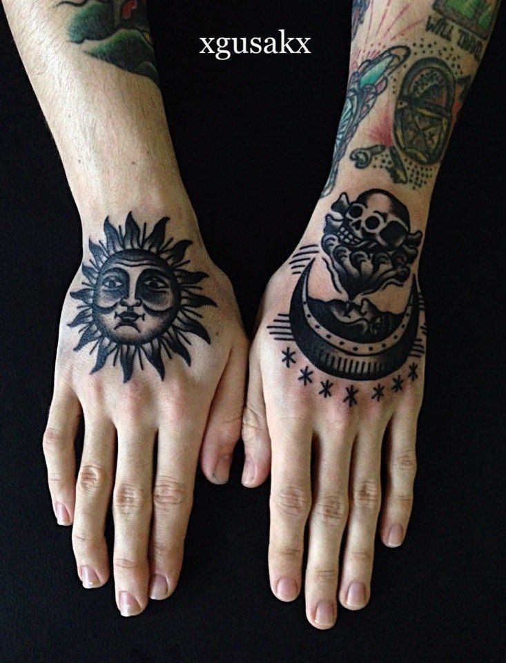 Pin By William Fendler On Tattoo Hand Tattoos Traditional Sun Tattoo Tattoos