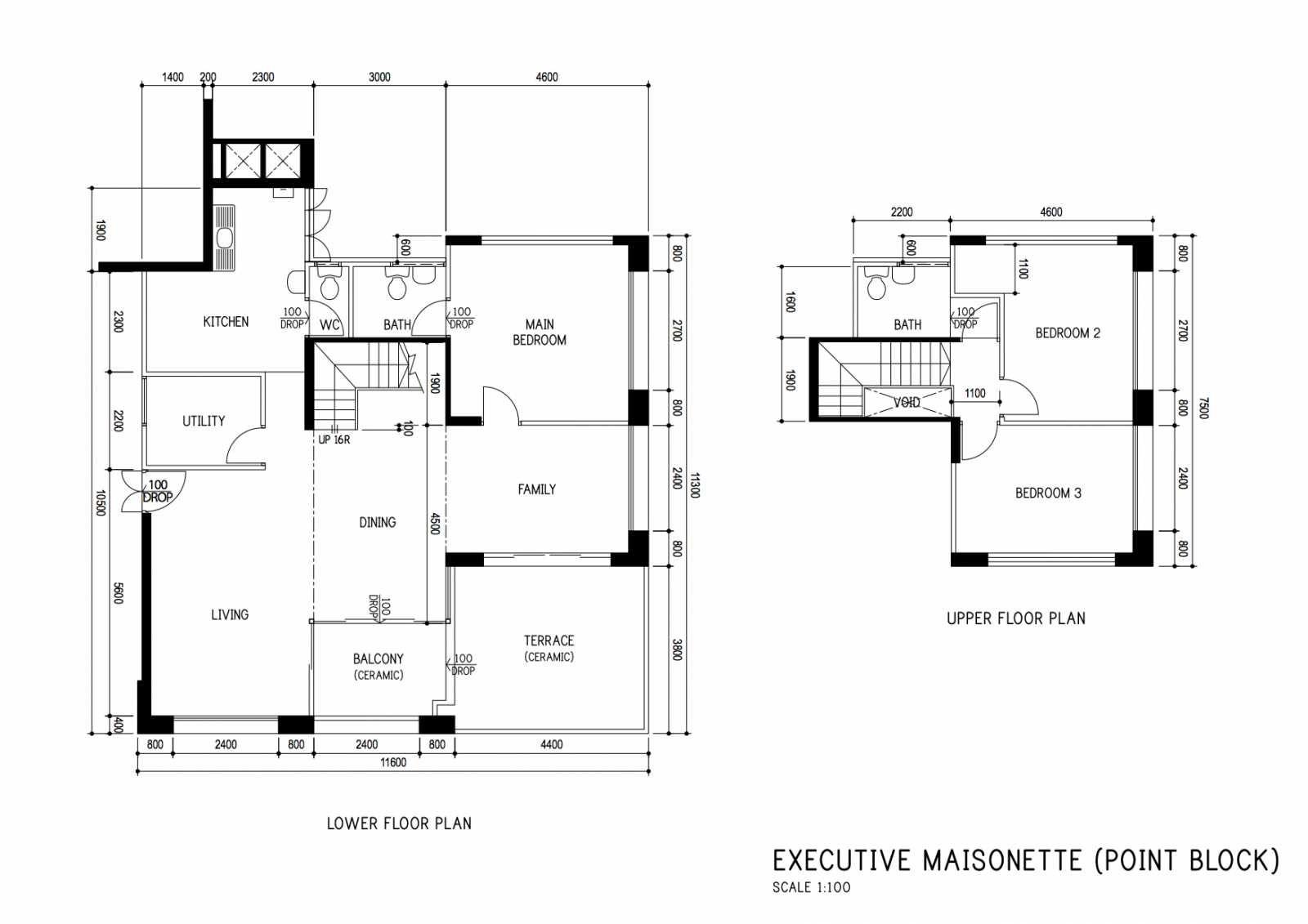 Hdb Executive Maisonette From Bishan Blocks 1xx 163 Sqm Floor Plans How To Plan Bishan