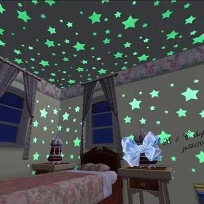 Pegatinas De Estrellas Fosforescentes Para Habitacion Gadgets Pegatinas Pared Luminada 100 Estrellas Noe Decorar Techo Colores De Cuartos Estrellas En El Techo