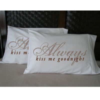 Faceplant Pillowcases Always Kiss Me Goodnight Faceplantset Of 2 Standard Pillowcases