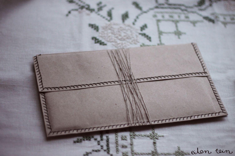yesterday I did: DIY: envelopes Wedding Invitations
