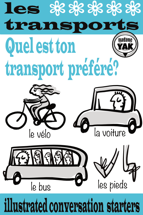 French Conversation Starters: Les Transports | FSL | French