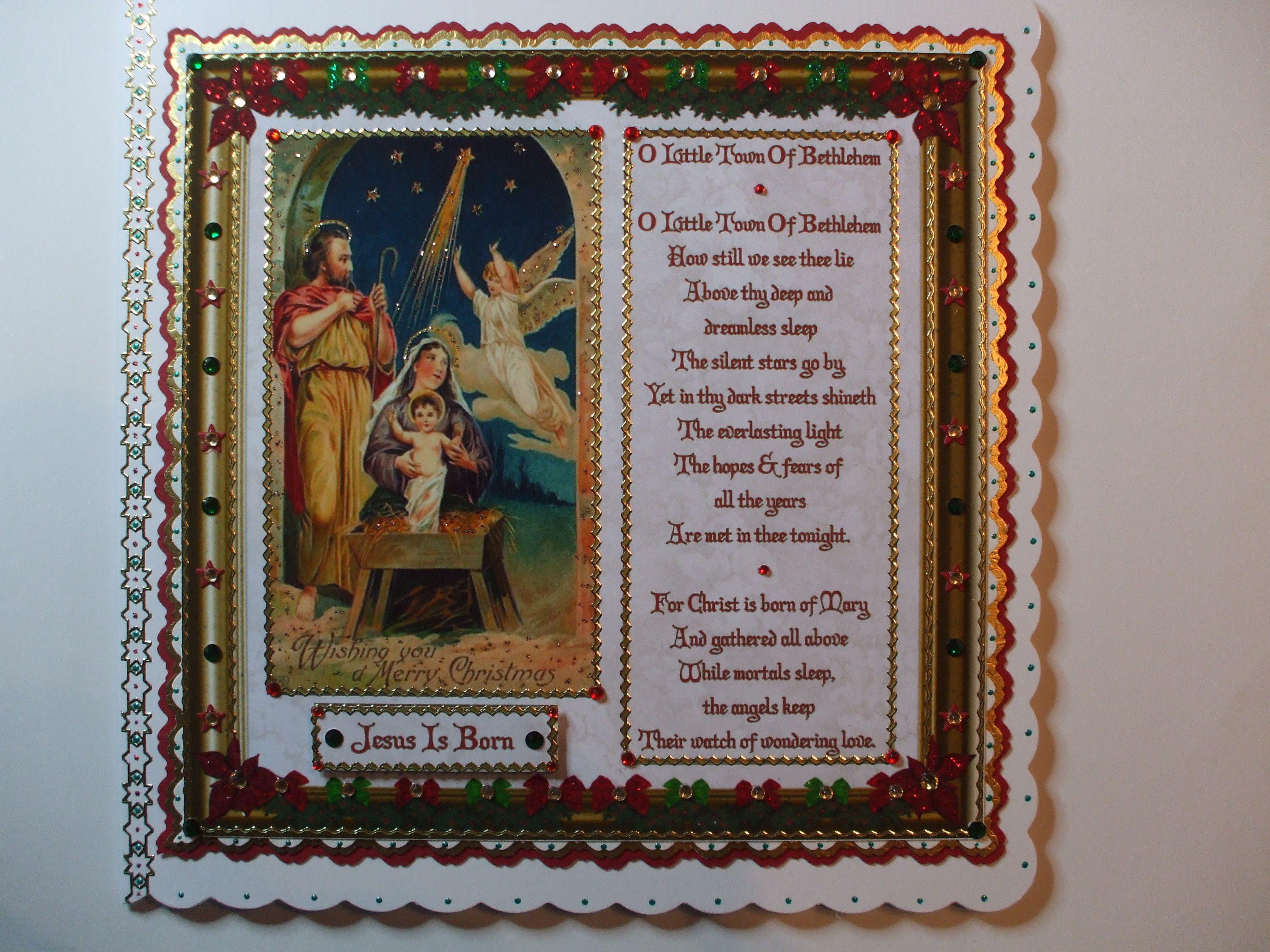 Handmade Religious Christmas Card   My Handmade Cards ...