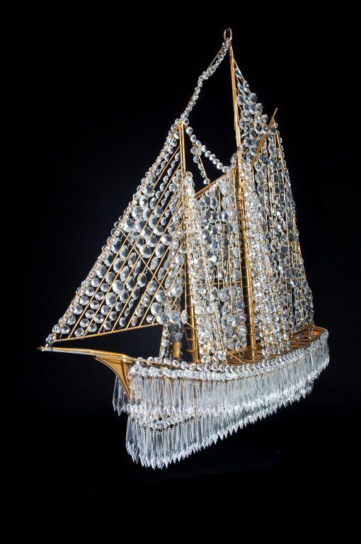 Crystal Ship Chandelier Vintage Chandelier Crystal Ship