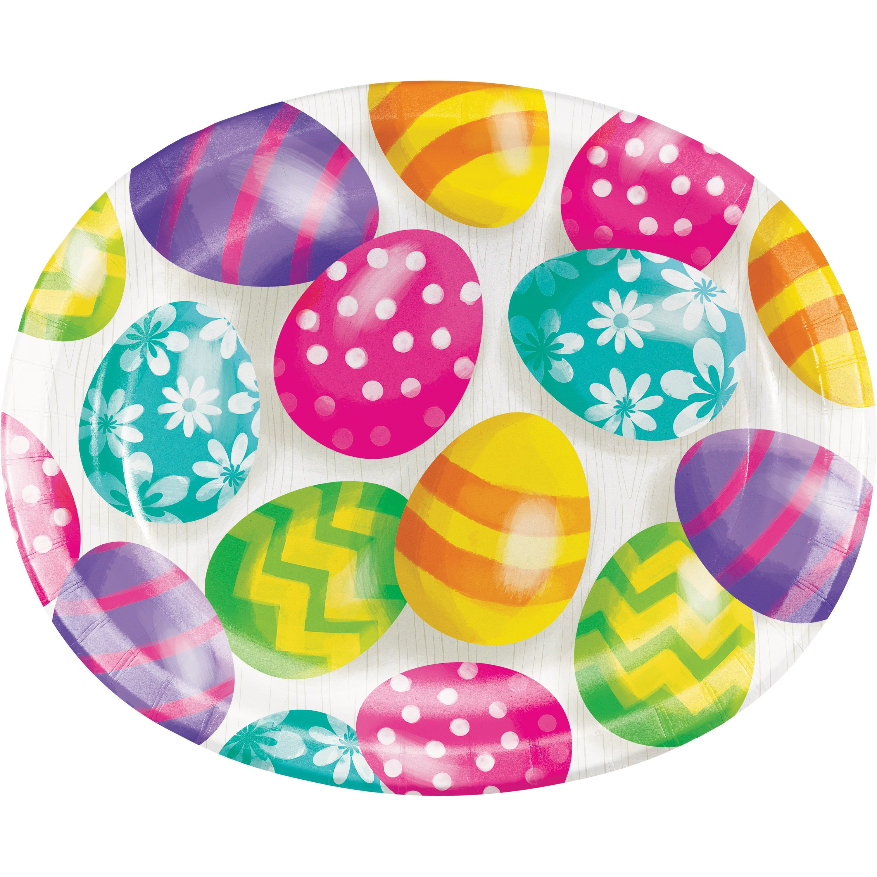 Easter Eggs 10 L X 12 W Oval Platter Printed Plate Foil Easter Eggs Easter Egg Designs Easter Colors