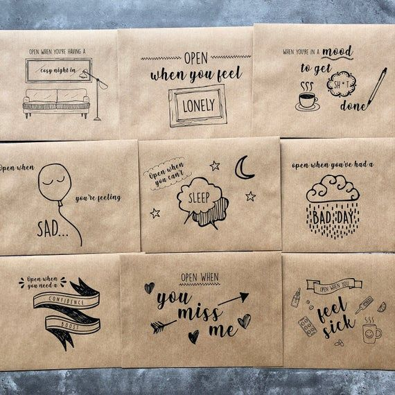 Set Of Open When Letters Long Distance Gift Present (With