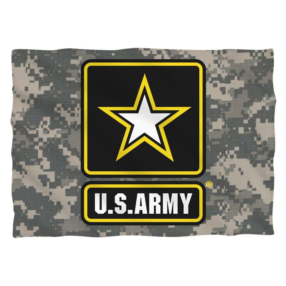 ARMY/PATCHPILLOW CASEWHITEONE SIZE Army patches, Us