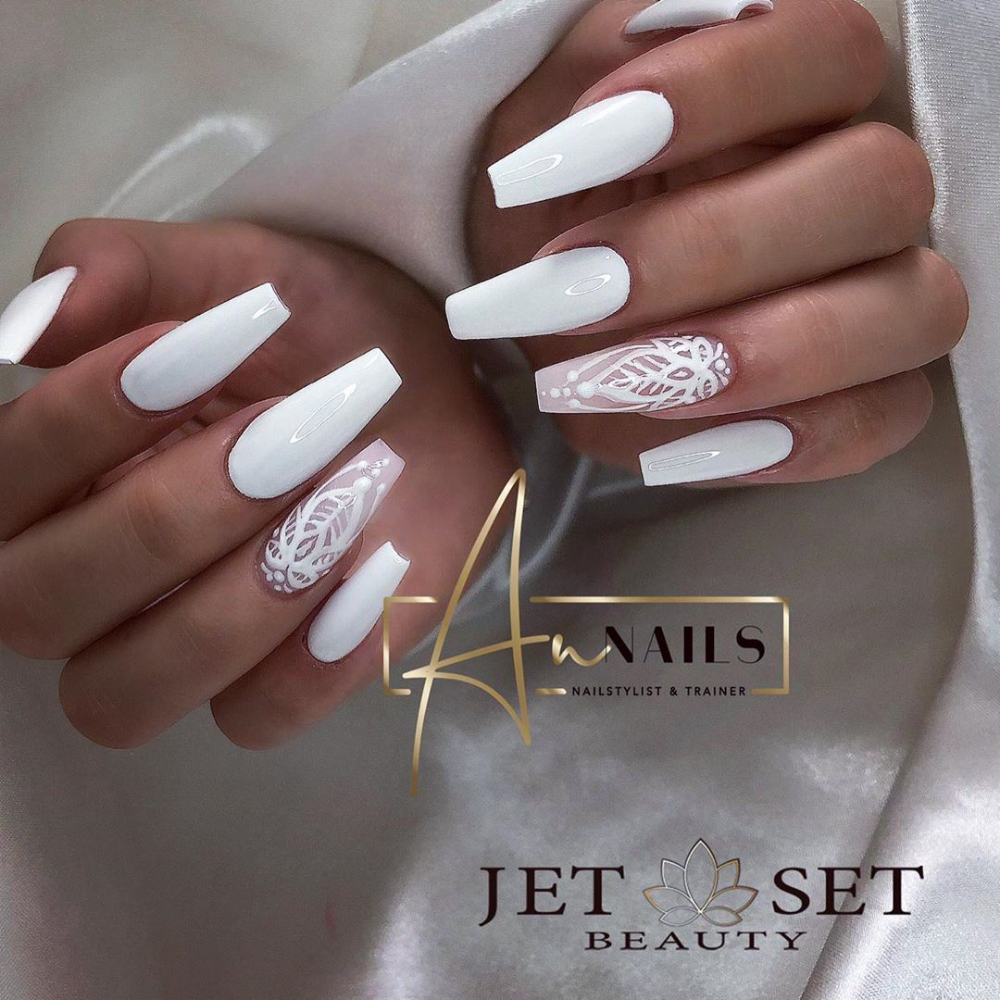 37 Best White Nails Art Designs In Summer 2019 White Nails Nail Art Designs Matte White Nails