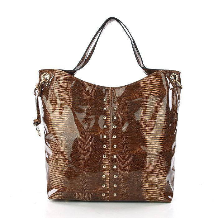 Michael Kors Outlet Stud Large Beige Shoulder Bags -Michael Kors factory outlet online sale now up to 80% off!