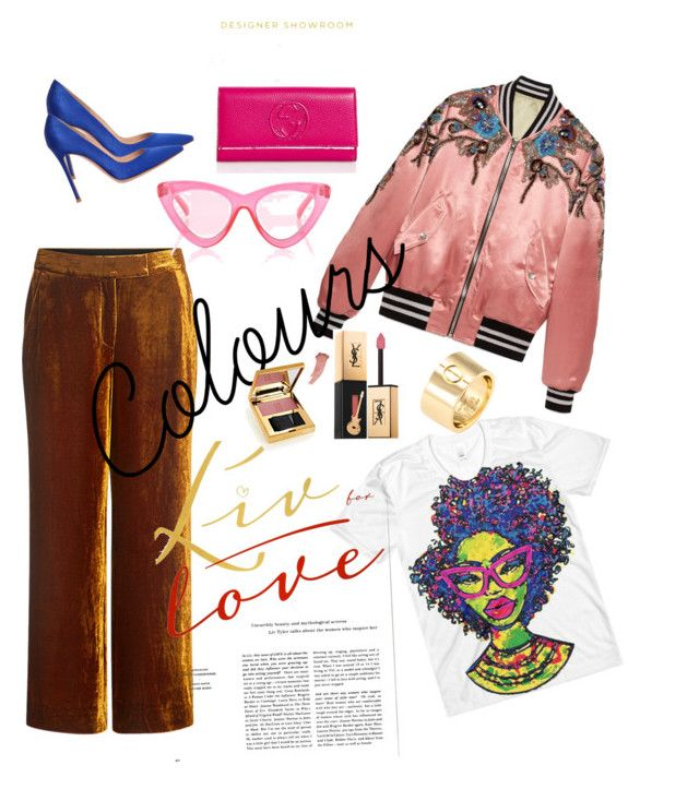 mix colours - perfect combimation by alexiawalder on Polyvore featuring polyvore fashion style Gucci A.L.C. Gianvito Rossi Cartier Le Specs Yves Saint Laurent clothing