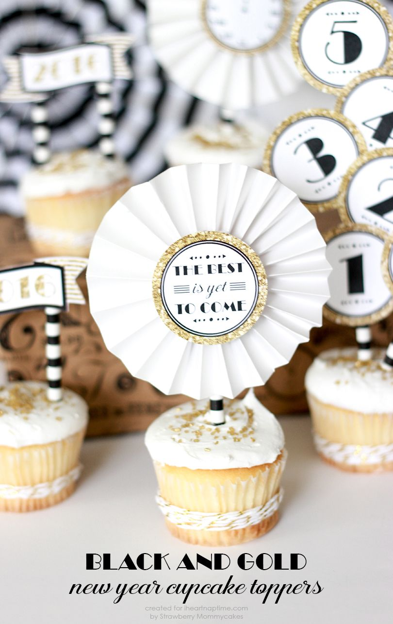 Fun Ideas For A New Year\'s Celebration | Cupcake toppers free, Free ...