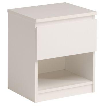 Nachtkommode Ursula I Weiß weiß Möbel Nachttisch