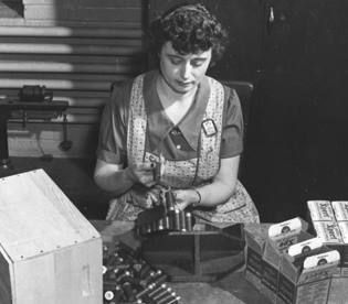 Worker at Western Cartridge Company, East Alton.  From Doug Mayes