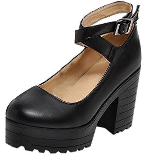 Partiss Damen Gothic Lolita College Wedge Shoes High-top Casual Lolita  Pumps Herbst Fruehling Hochzeit Tanzenball Maskerade Anime Cosplay  Diestmaedchen ...