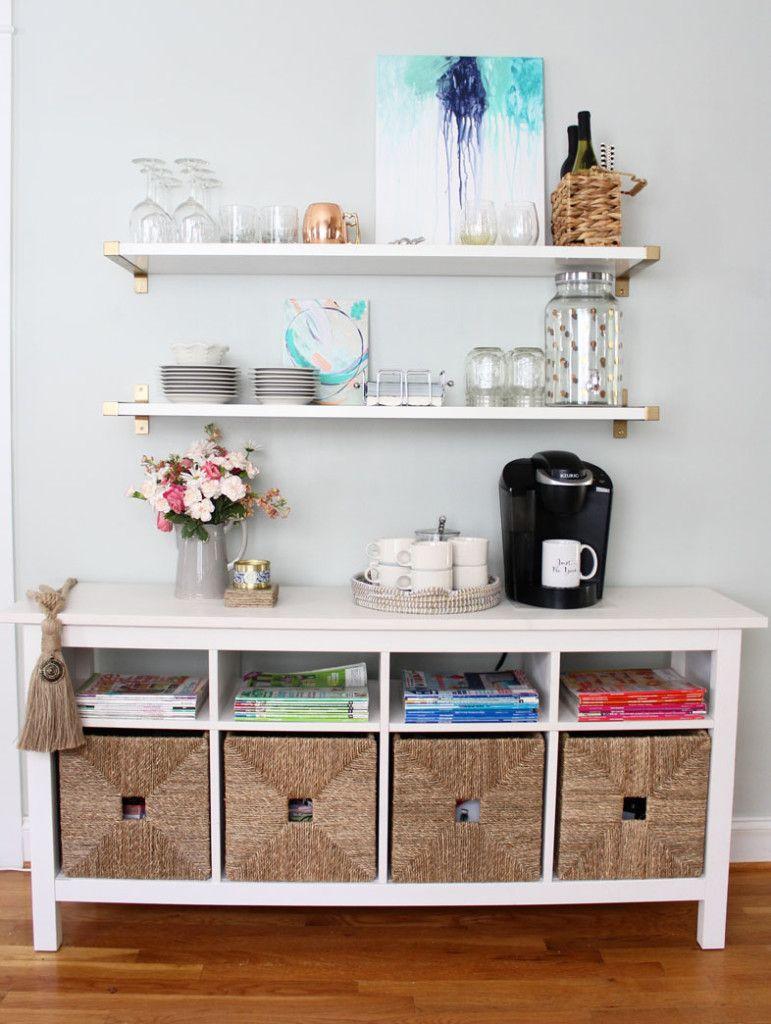 Bar Alternative Using Open Shelves