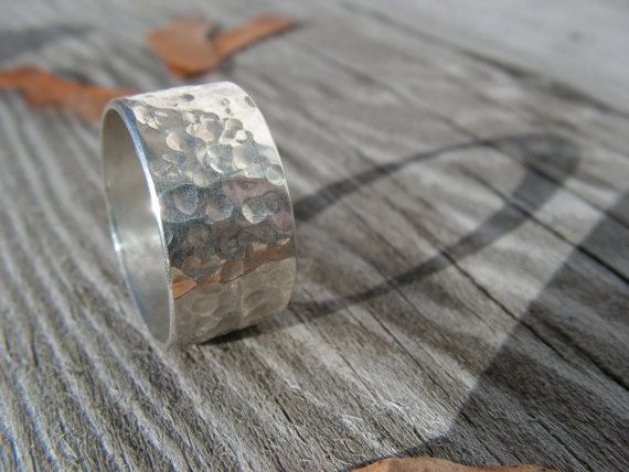 Hammered Silver Ring  Size 8 by KellyGemstoneJewelry on Etsy, $35.00