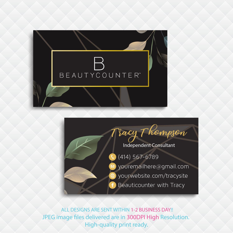 Custom Beautycounter Business Card Beautycounter Business Cards Bc25 Printable Business Cards Business Cards Beauty Beautycounter